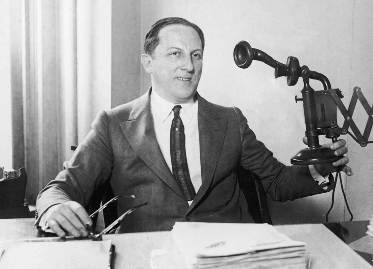 American professional gambler Arnold Rothstein, who inspired the Gatsby character Meyer Wolfsheim.