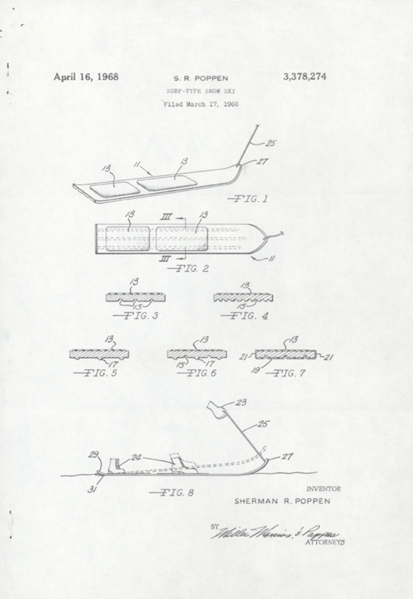 Sherman Poppen's invention the snurf board. (Credit: National Museum of American History/Smithsonian Institute)