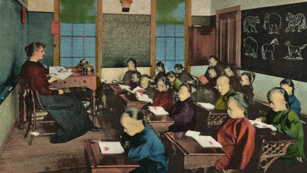 A Chinese primary public school in Chinatown, San Francisco (undated photo).