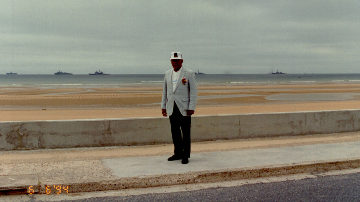 Woodson on the beaches of Normandy, 50 years after D-Day.