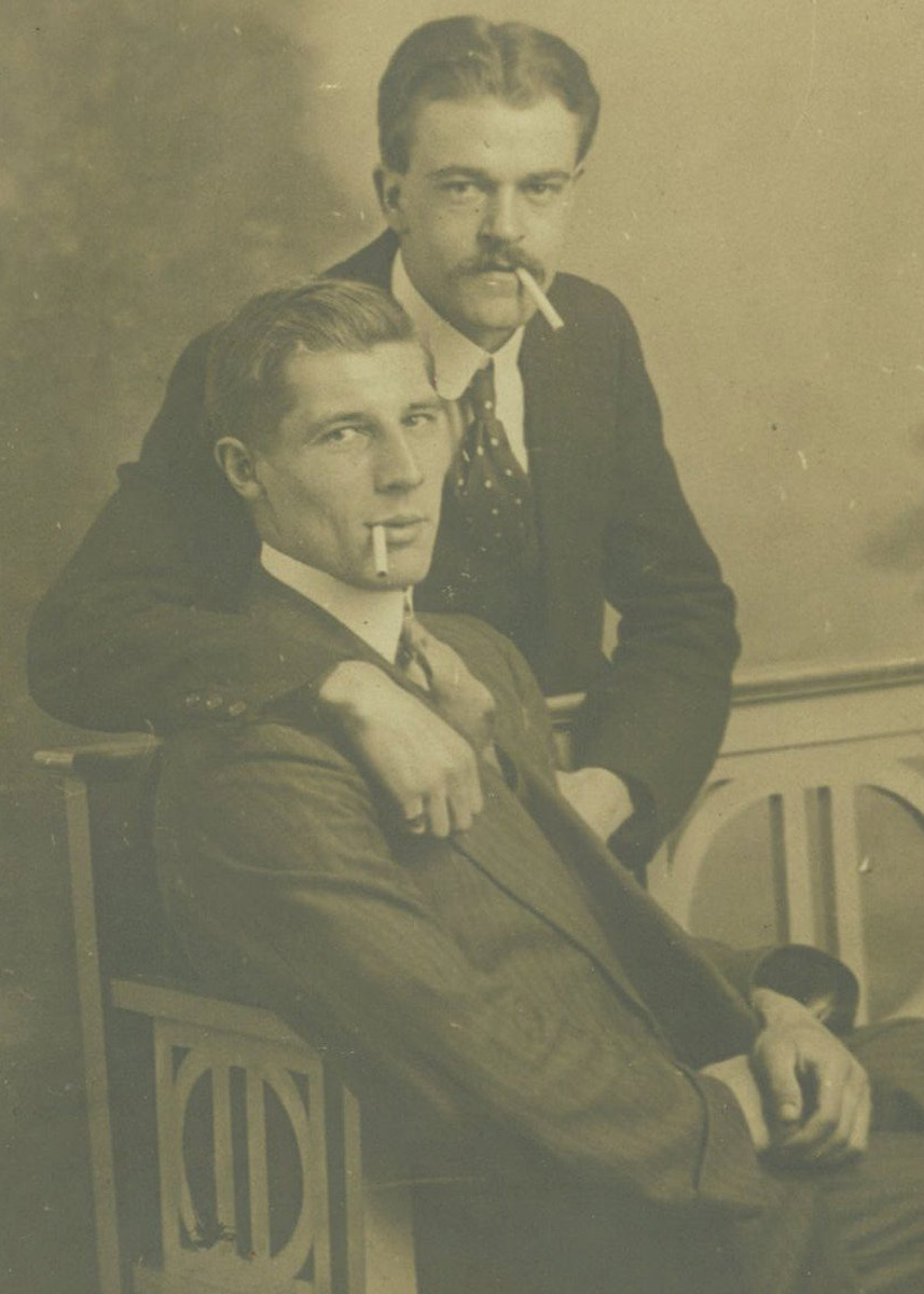 A portrait of a couple, circa 1920s.
