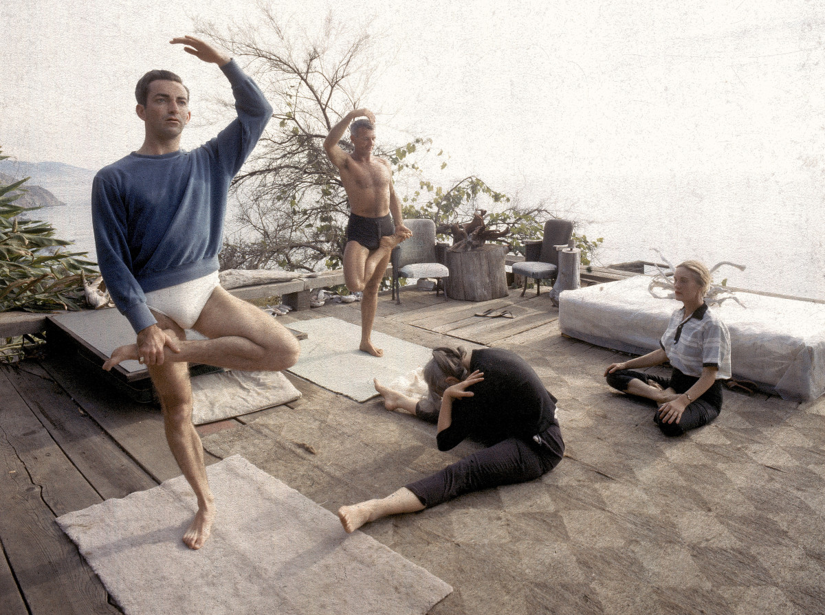 A yoga class in Big Sur, California, 1959.