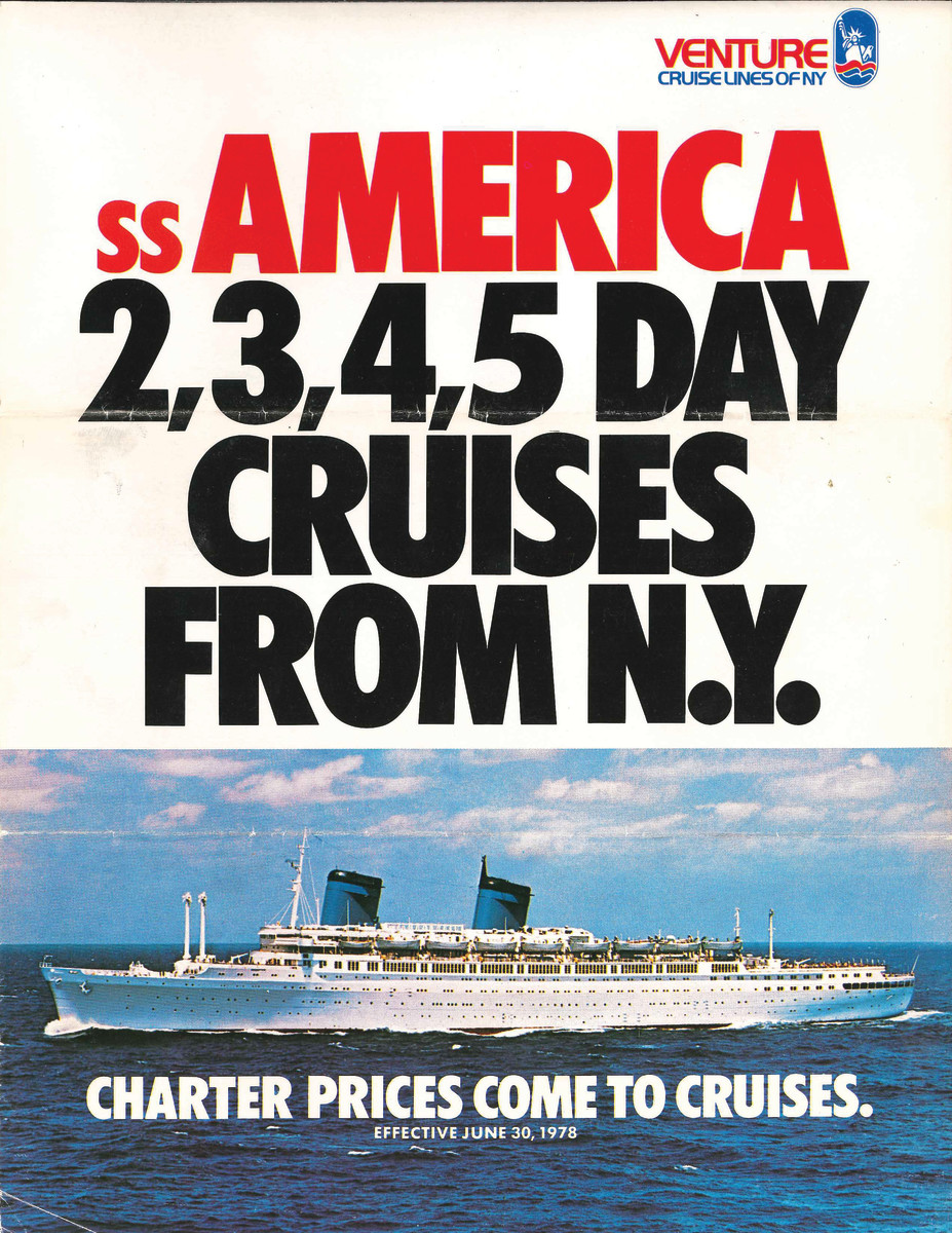 A 1978 brochure for the S.S. America.