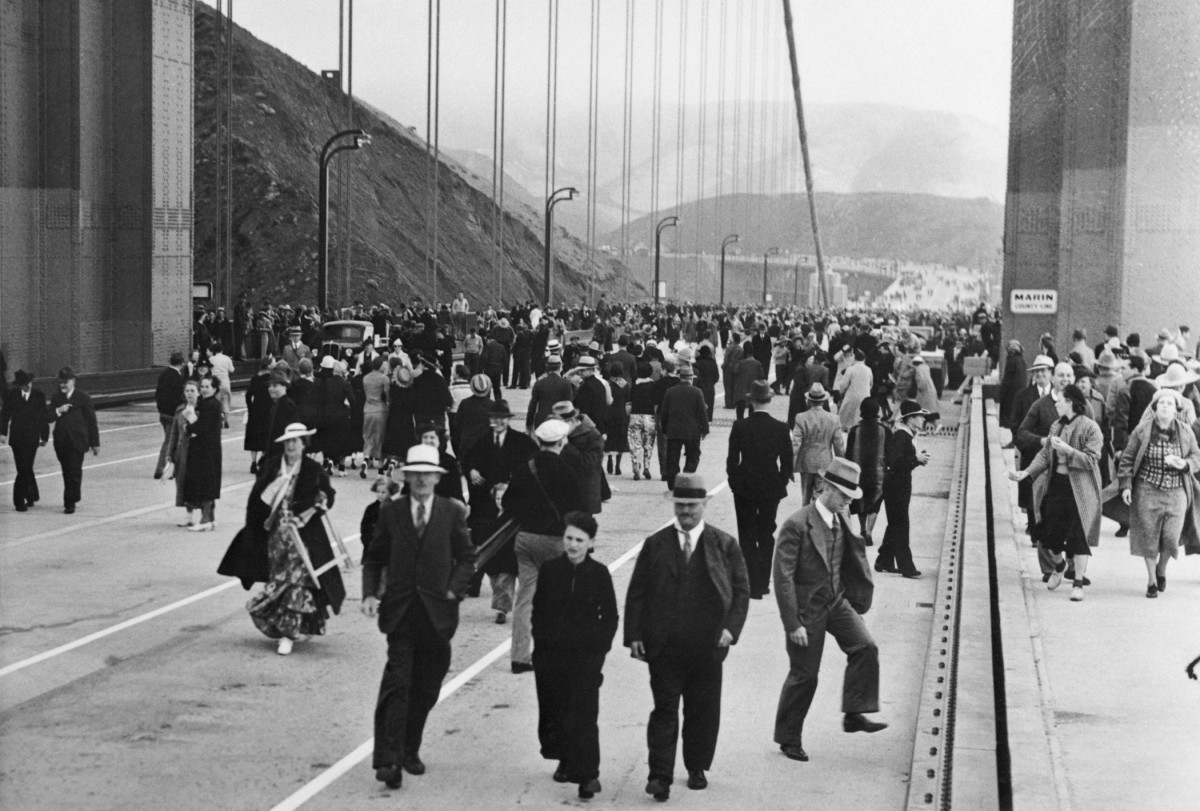 Golden Gate Bridge Opening Day