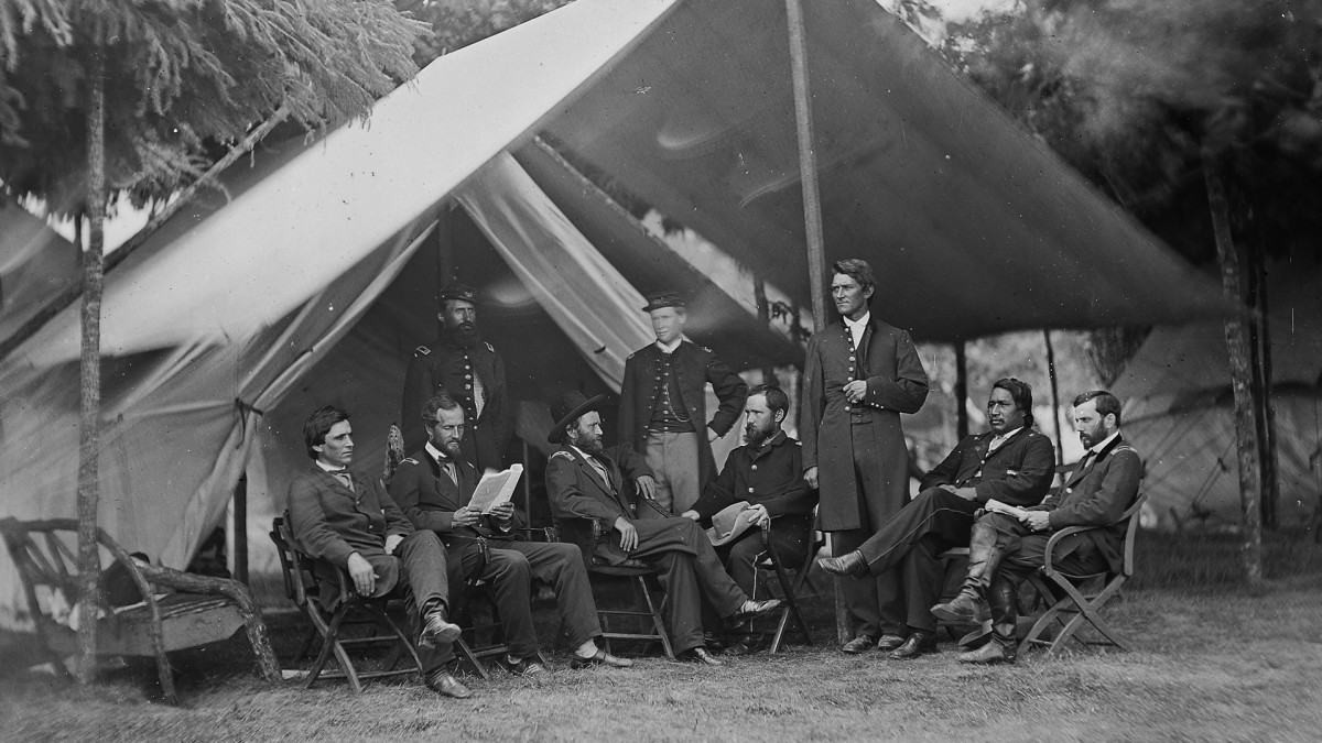 General Ulysses S. Grant & his staff, circa 1864.