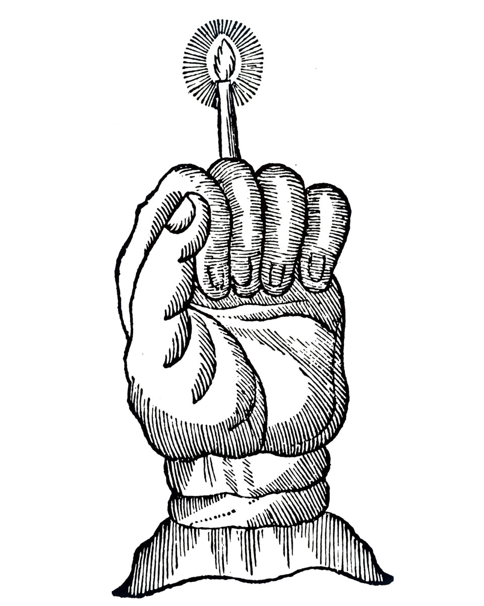 The Hand of Glory good luck charm
