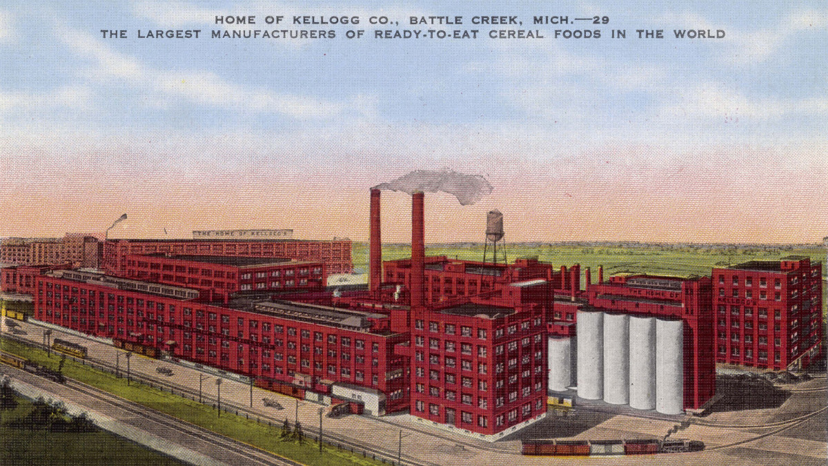 Kellogg's Factory in Battle Creek, Michigan