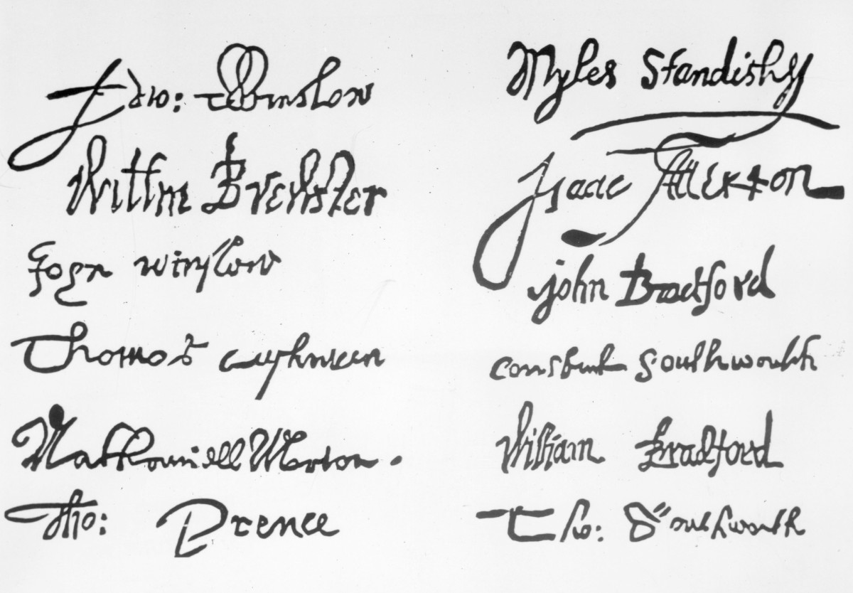 Signatures of the Mayflower Compact