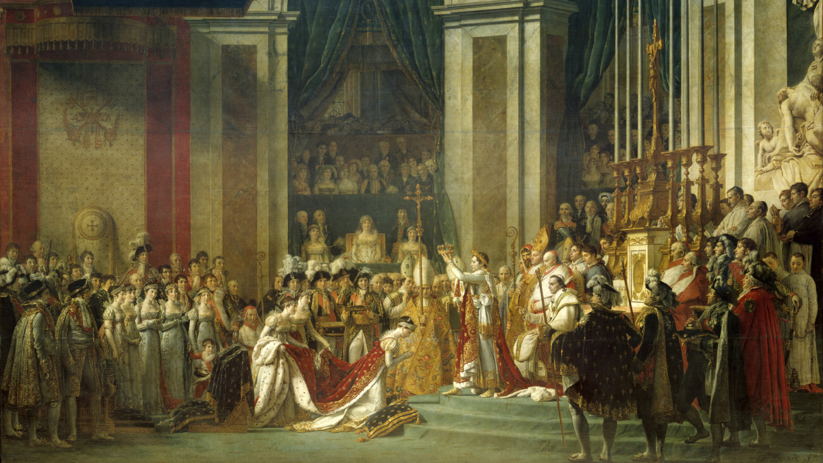 The Consecration of the Emperor Napoleon by Jacques Louis David