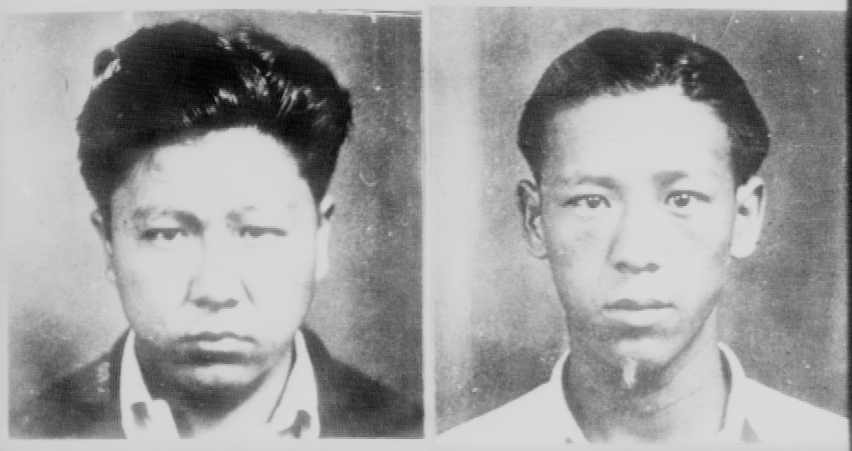 Horace Ida (left) and David Takai, suspects in the Massie rape case who were later exonerated.