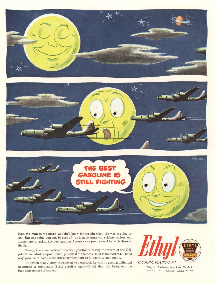 The Ethyl Corporation ad, 1940s