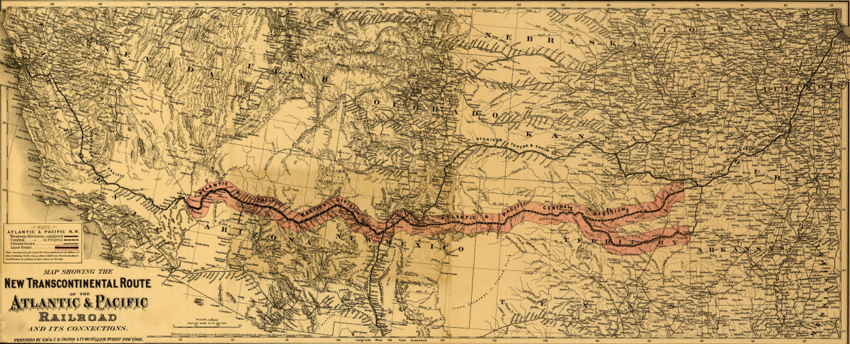 Map of the Transcontinental Railroad