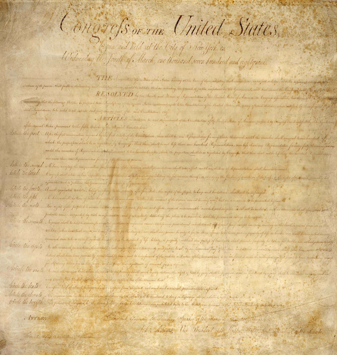 The U.S. Constitution Bill of Rights