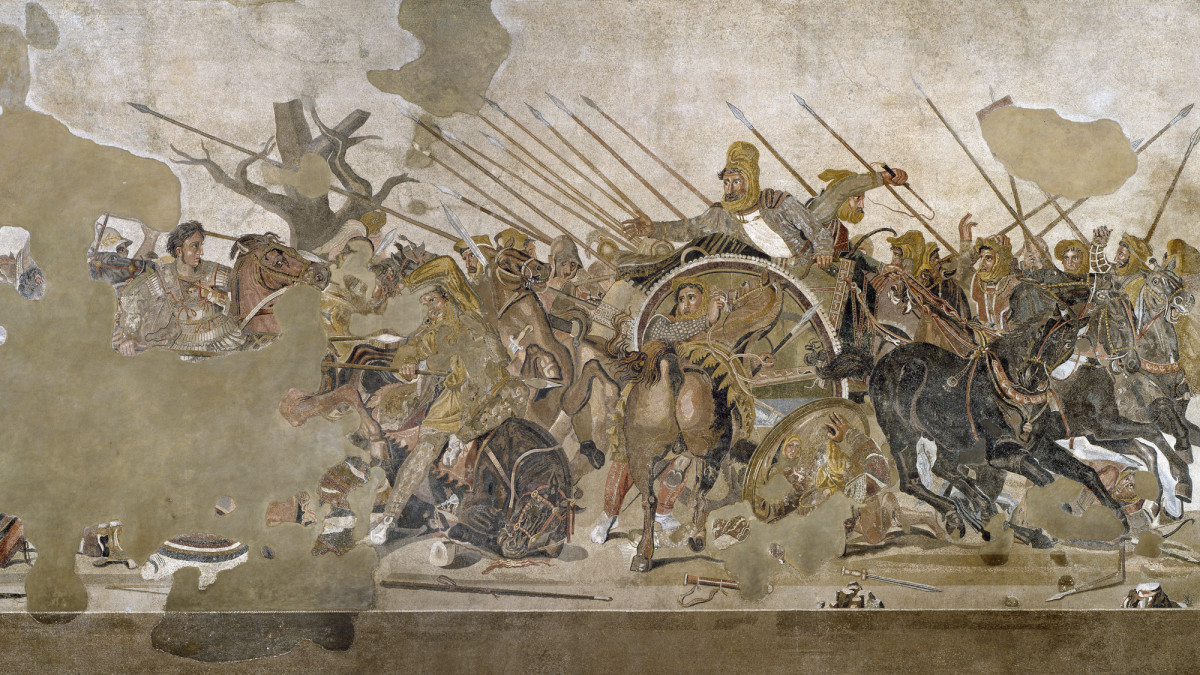 Battle of Issus between Alexander the Great and Darius and the Perisan Empire