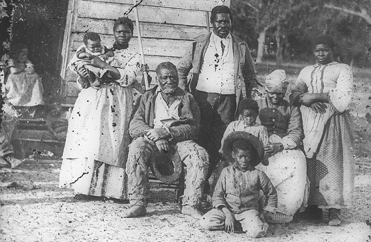 Five generations of slaves on Smith's Plantation in Beaufort, S.C., circa 1862.