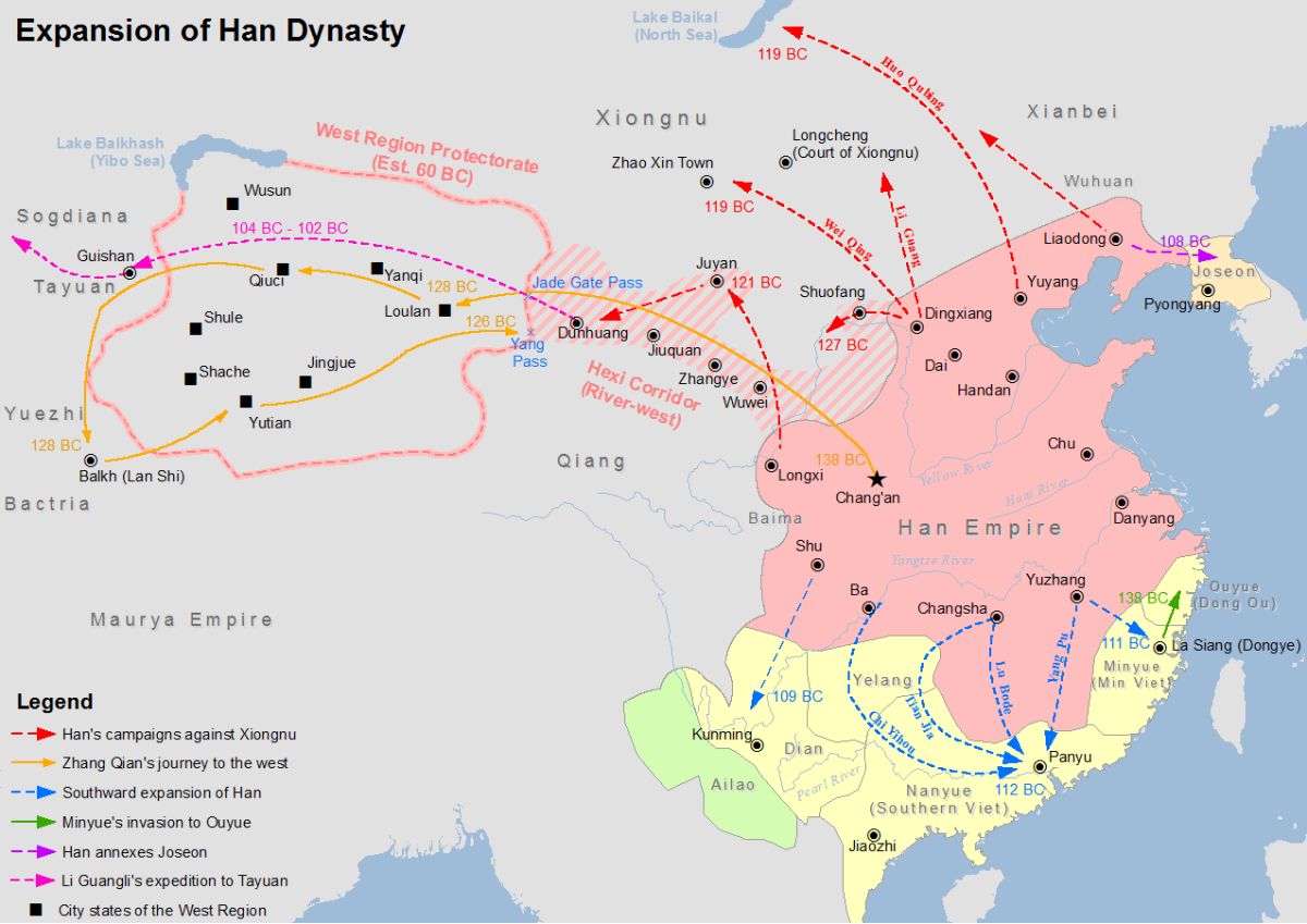 Han Dynasty expansion