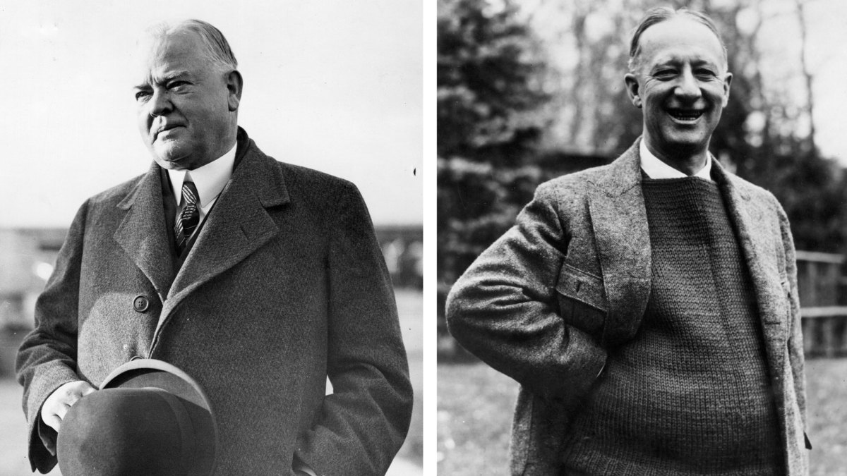 Herbert Hoover and Al Smith
