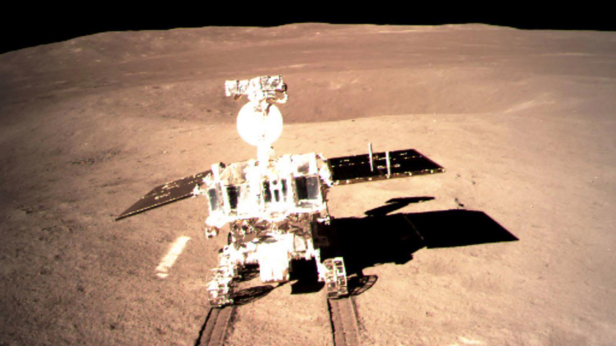 "This picture taken on January 3, 2019 and received on January 4 from the China National Space Administration shows a robotic lunar rover on the ""dark side"" of the moon, a global first that boosts Beijing's ambitions to become a space superpower."