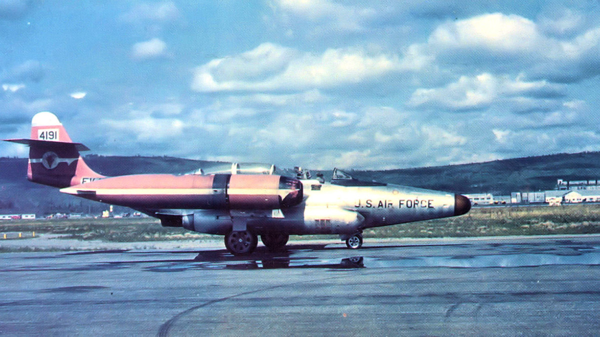 F-89C Scorpion jet pictured 1956, the same aircraft Moncla was flying the day of the incident.