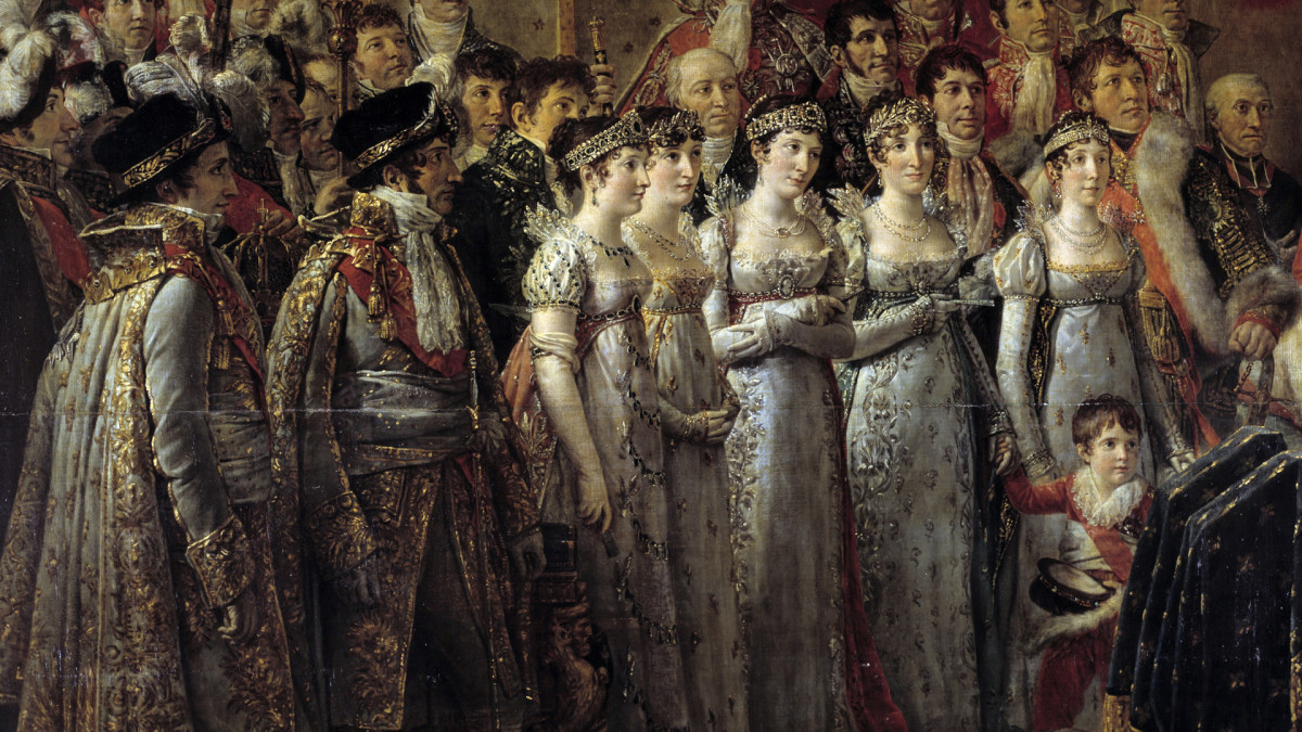 The brothers and sisters of Napoleon Bonaparte his Consecration in 1804.