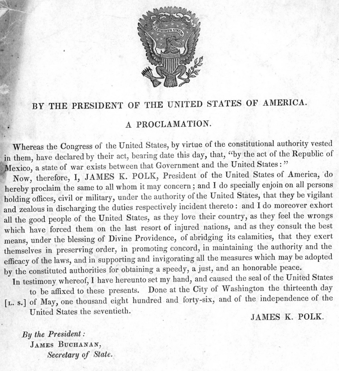 Mexican American War Proclamation