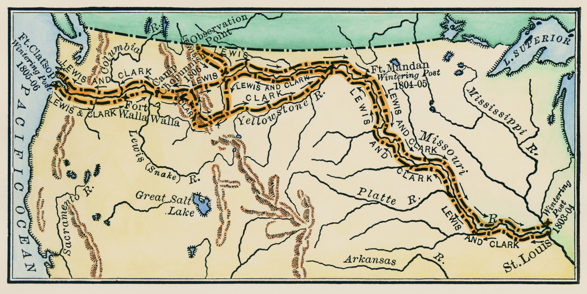 Lewis and Clark Expedition Route