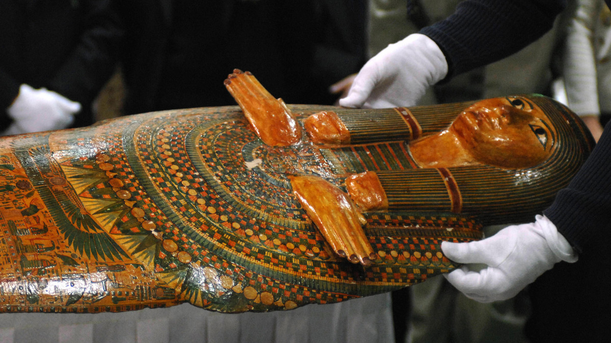 The 'Unlucky Mummy', from 945 BC, displayed by the British Museum in 2007.