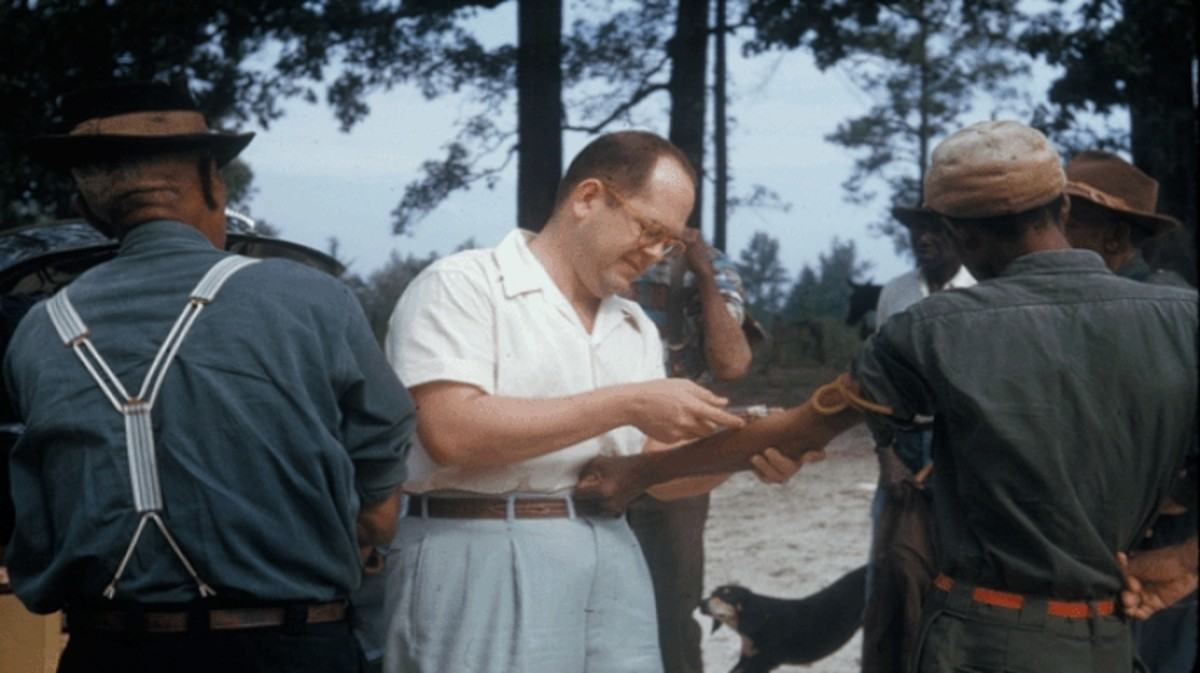 Participants in the Tuskegee Syphilis Study.