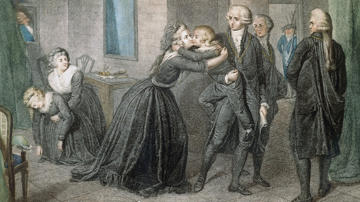 Louis XVII being taken away from his mother, Marie Antoinette