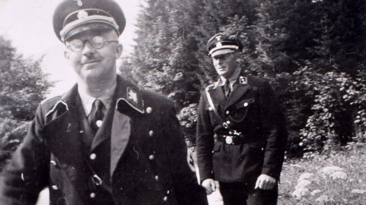 Heinrich Himmler (left), chief of the SS, visiting the Berghof.