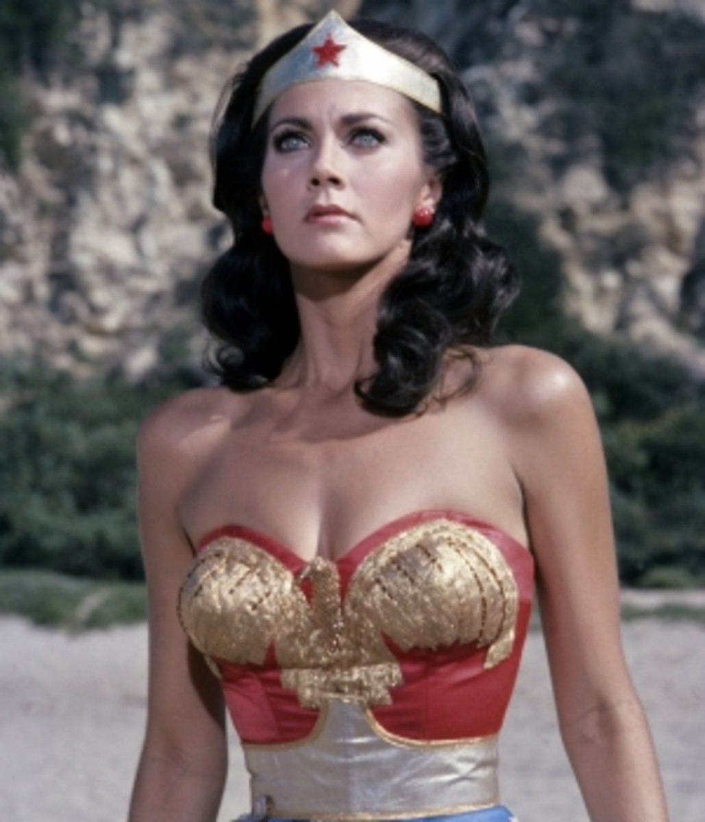 Lynda Carter as Wonder Woman in the television series.