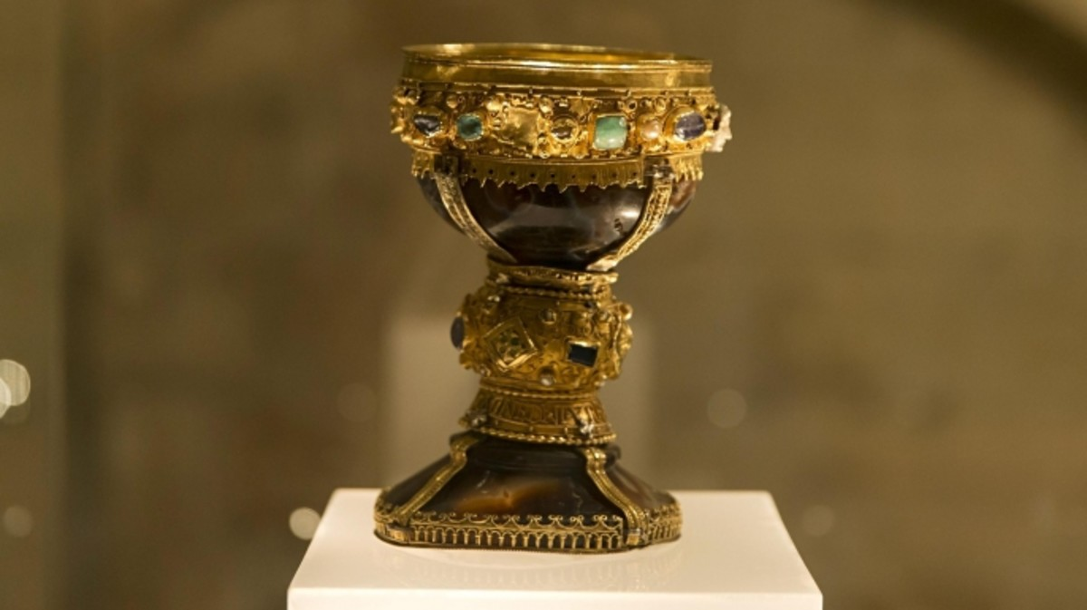 The goblet of the Infanta Dona Urrace in Spain's Basilica of San Isidro.