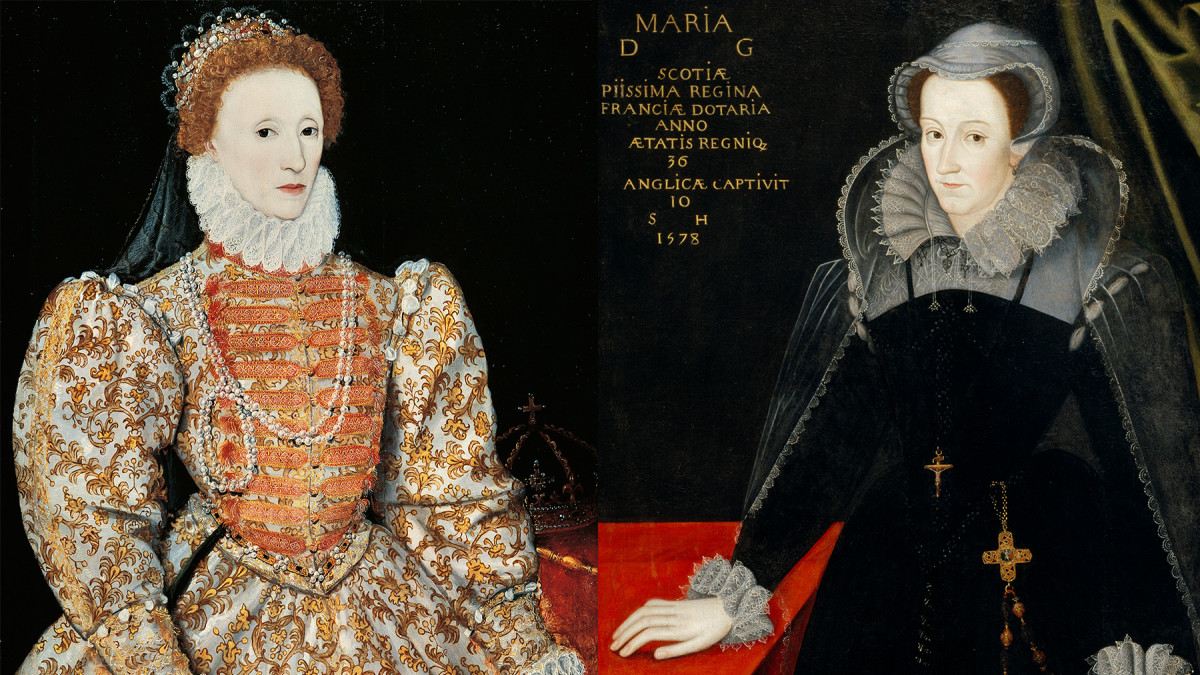 Elizabeth I of England and Mary, Queen of Scots.