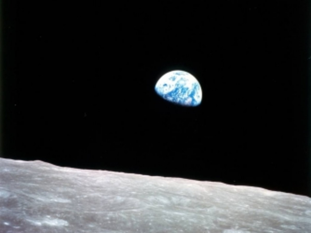 Photograph of the Earth taken by astronaut William Anders during the Apollo 8 mission, in 1968