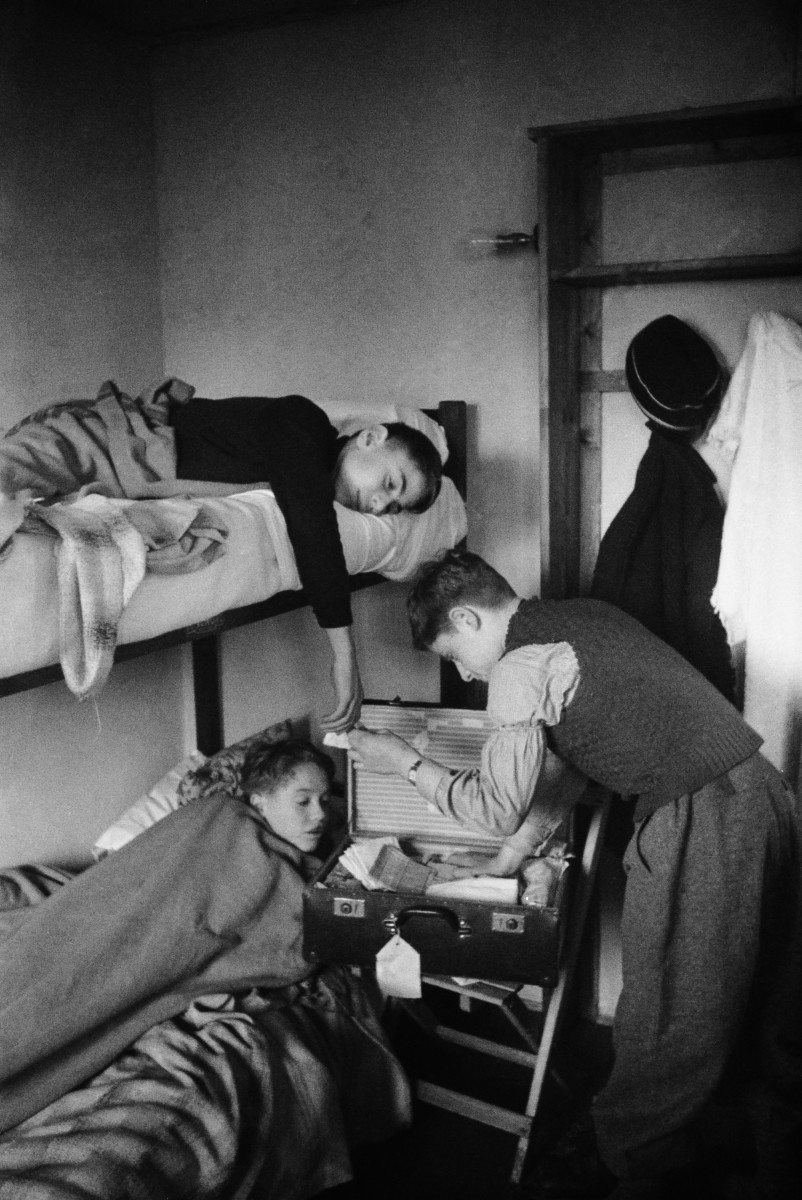 Three refugee children at the Dovercourt Bay camp near Harwich in December 1938.
