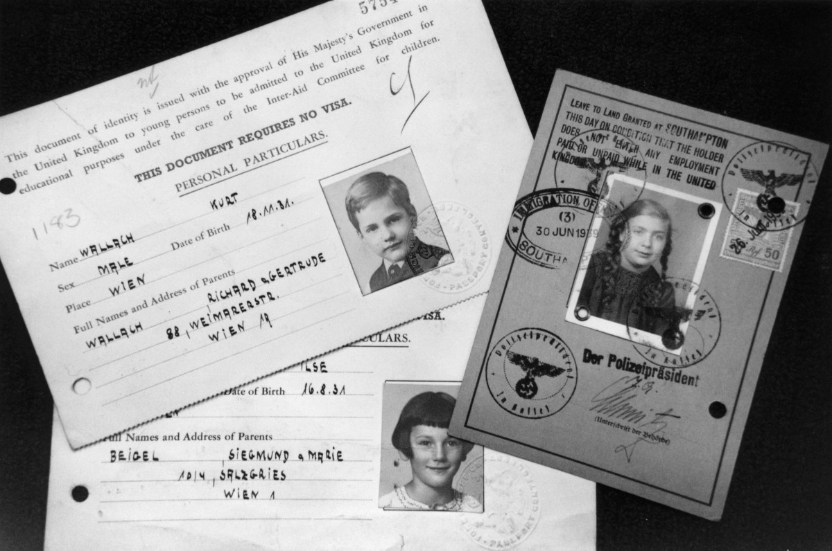 The Central British Fund for German Jewry, later known as Jewish Relief, discovered these documents in 1994. They show photographs and details for three children who were brought to Britain from Austria to escape the Nazis.