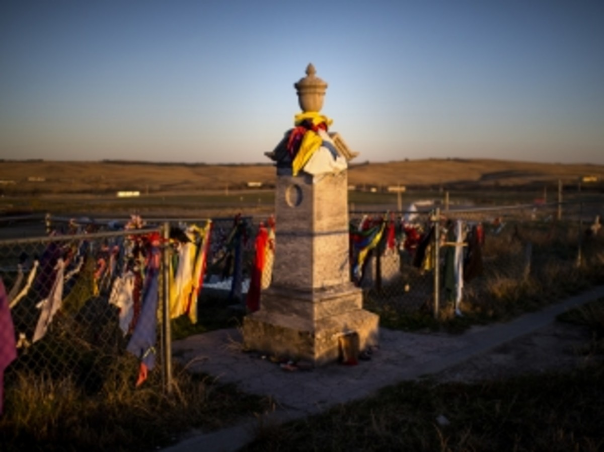 Wounded Knee Memorial on Pine Ridge Reservation.