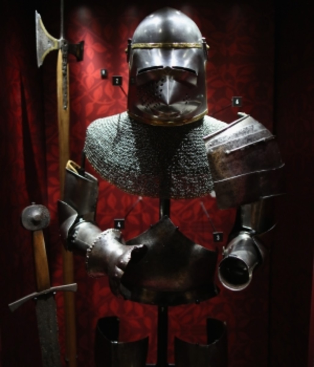 Objects from the Battle of Agincourt on display at the Tower of London on October 22, 2015, to commemorate the battle's 600th anniversary.