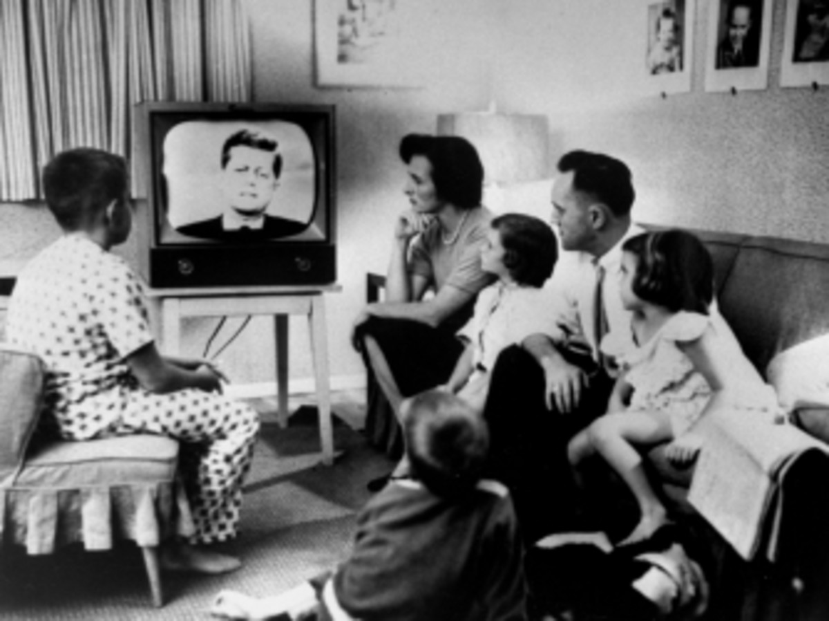 An American family gathered to watch the first debate.