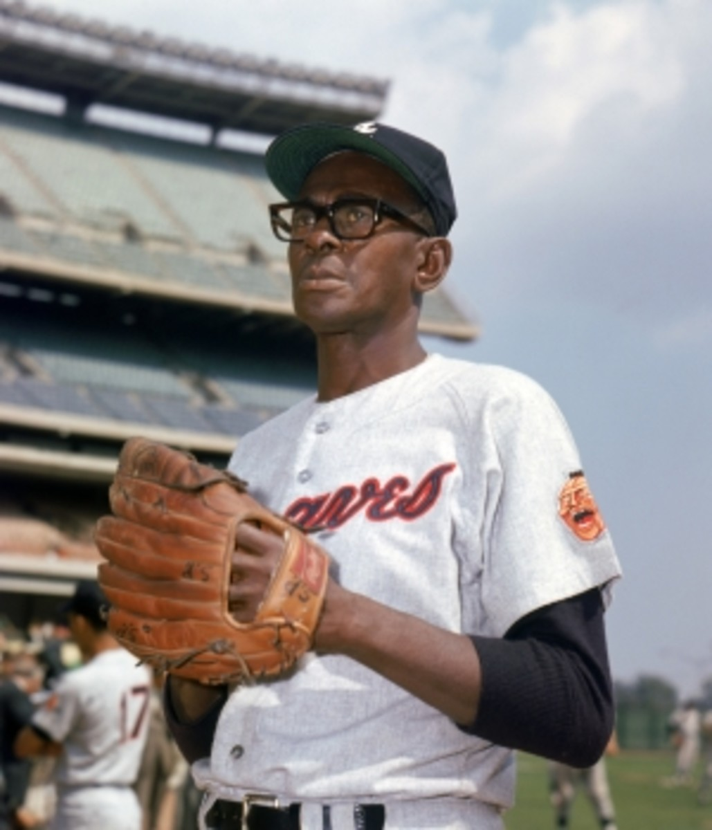 Satchel Paige of the Atlanta Braves circa 1968.