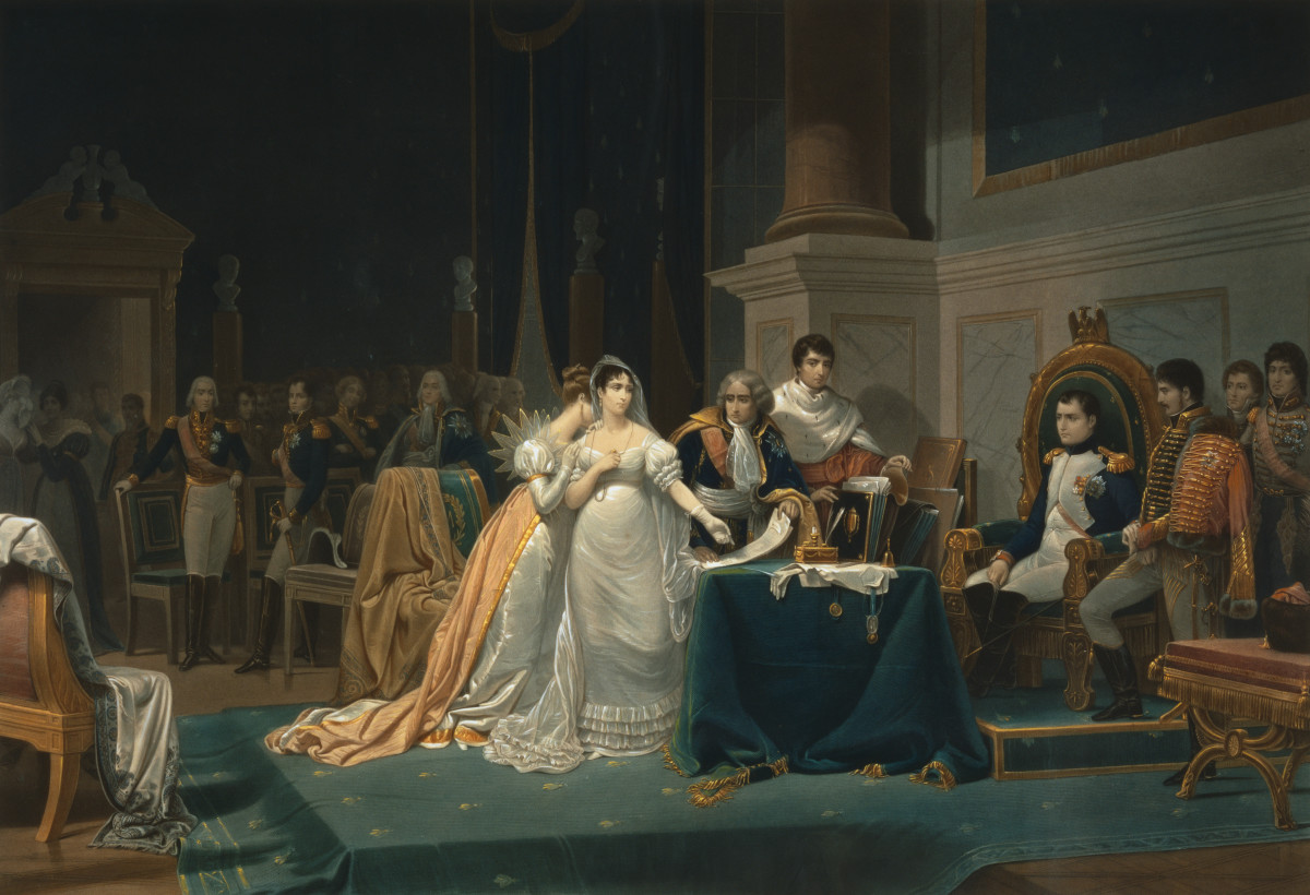 Empress Josephine and Napoleon after their divorce.