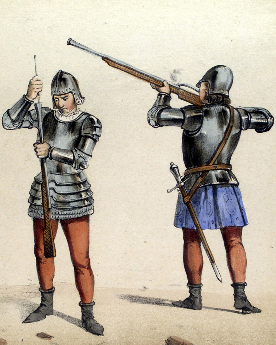 15th-century riflemen of the Spanish Military.