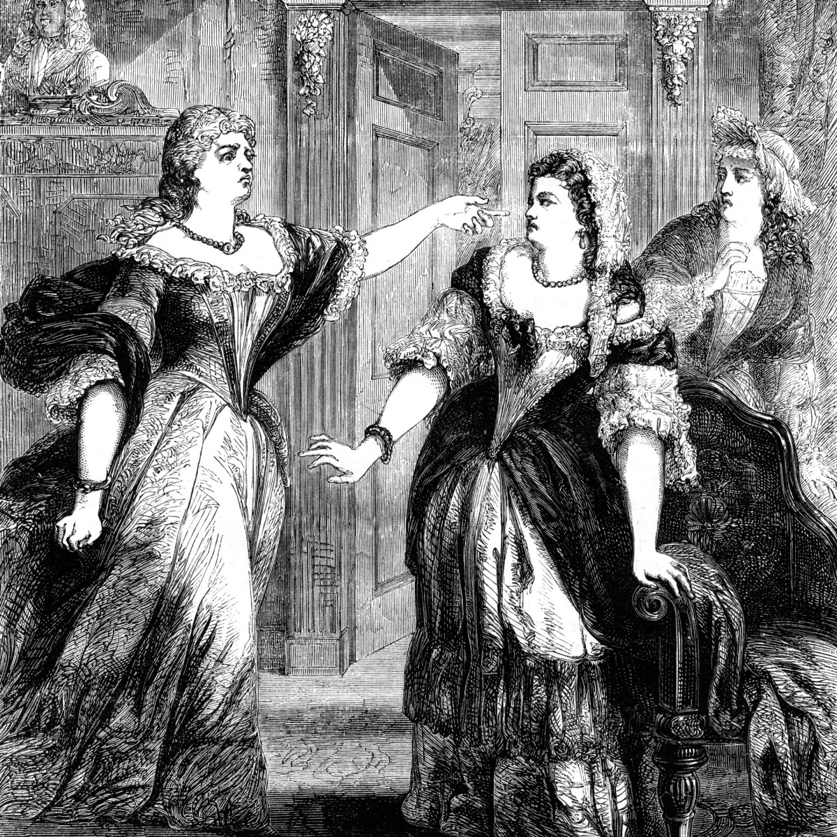 The Duchess of Marlborough upbraiding Queen Anne and Abigail Masham.