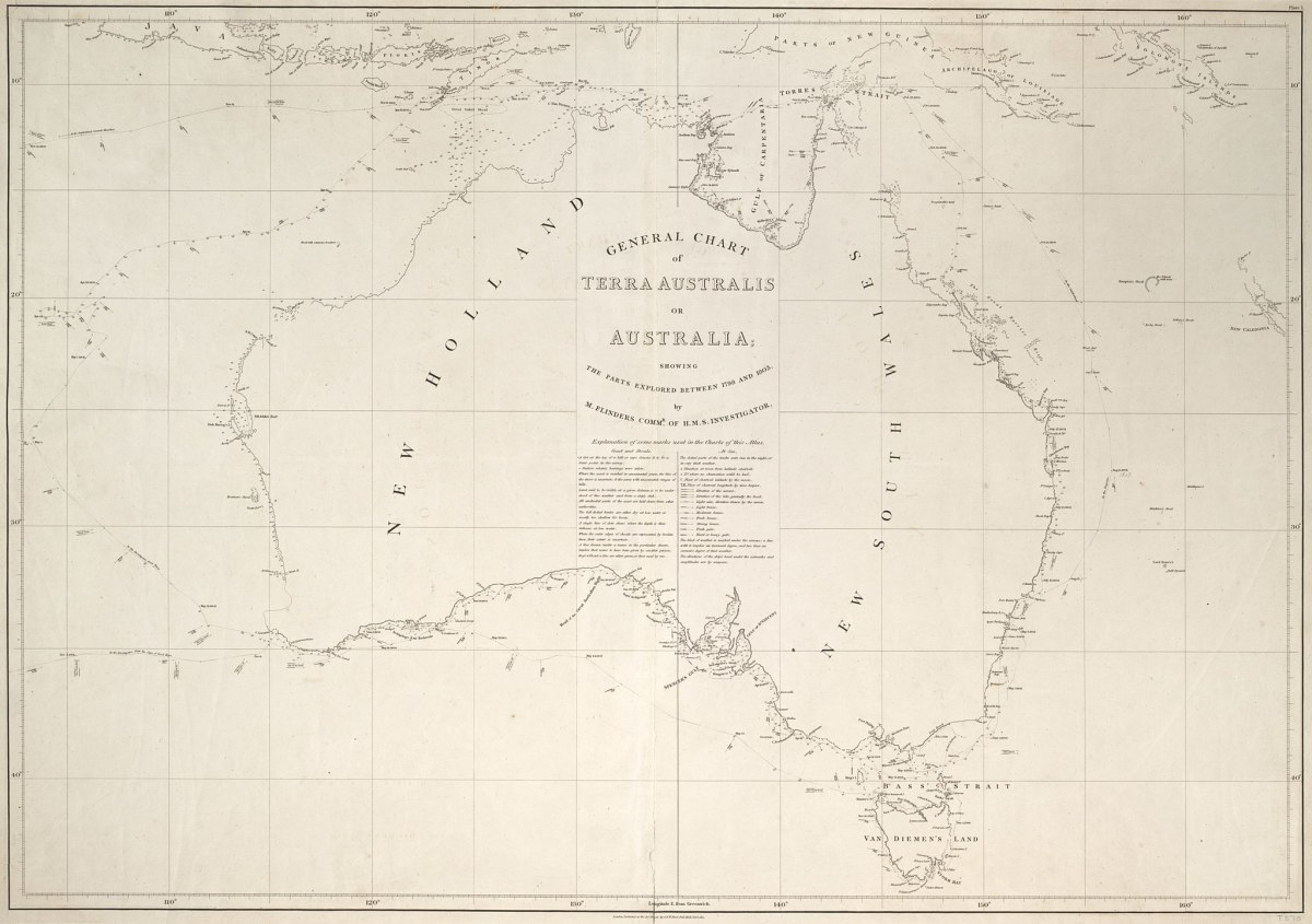 Matthews Flinders Map of Australia