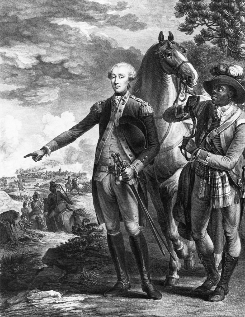 The Marquis de Lafayette and his assistant James Armistead.