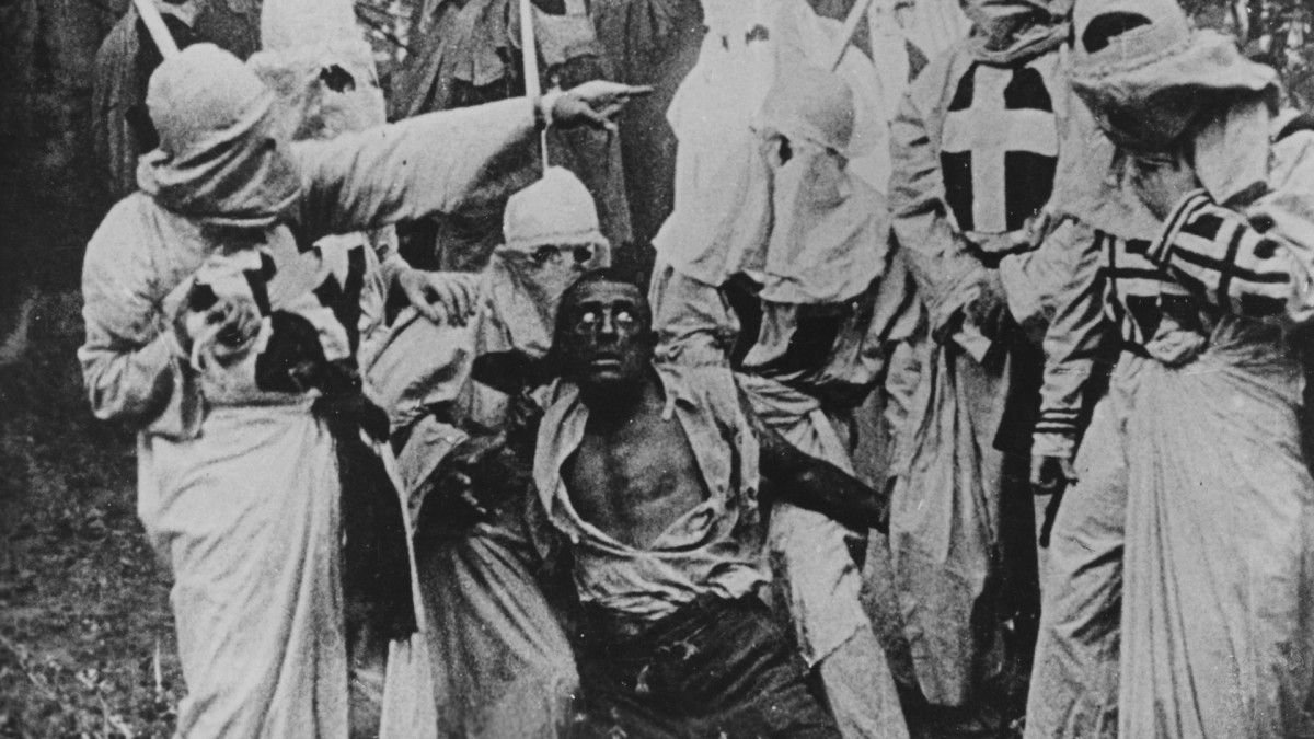 Scene from the film 'Birth of a Nation'