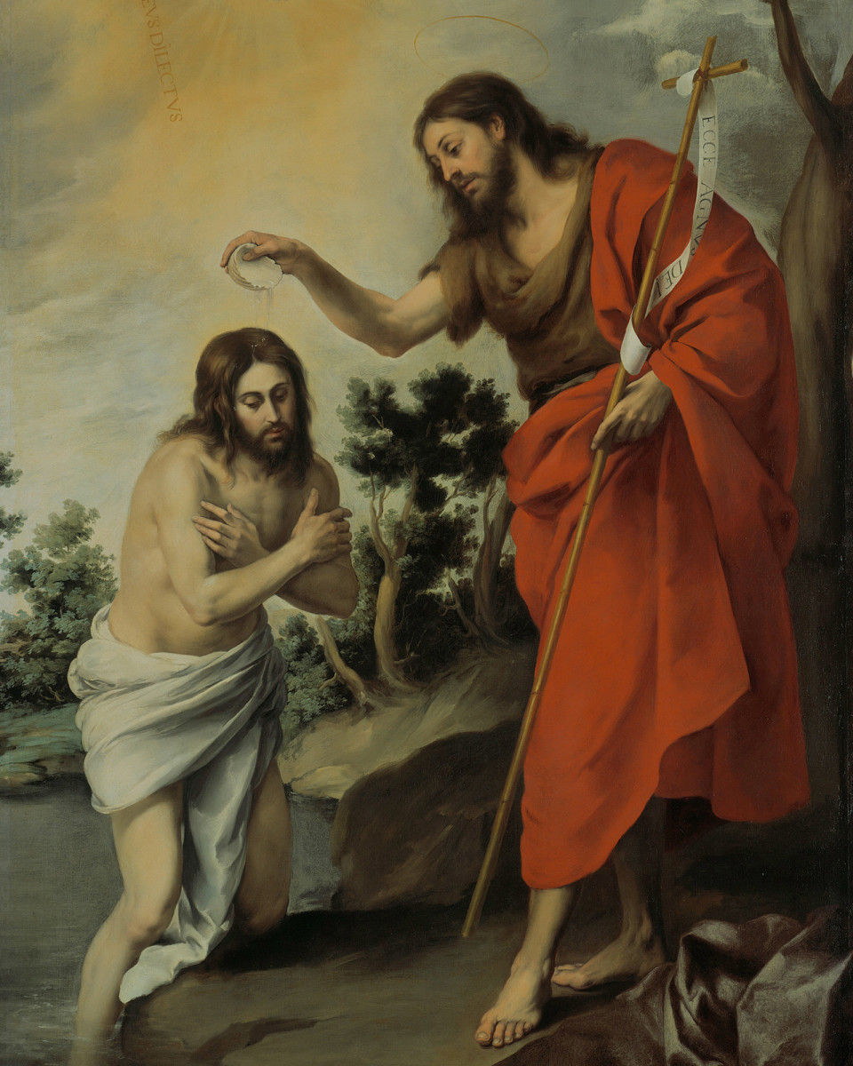 The Baptism of Christ by Saint John the Baptist.