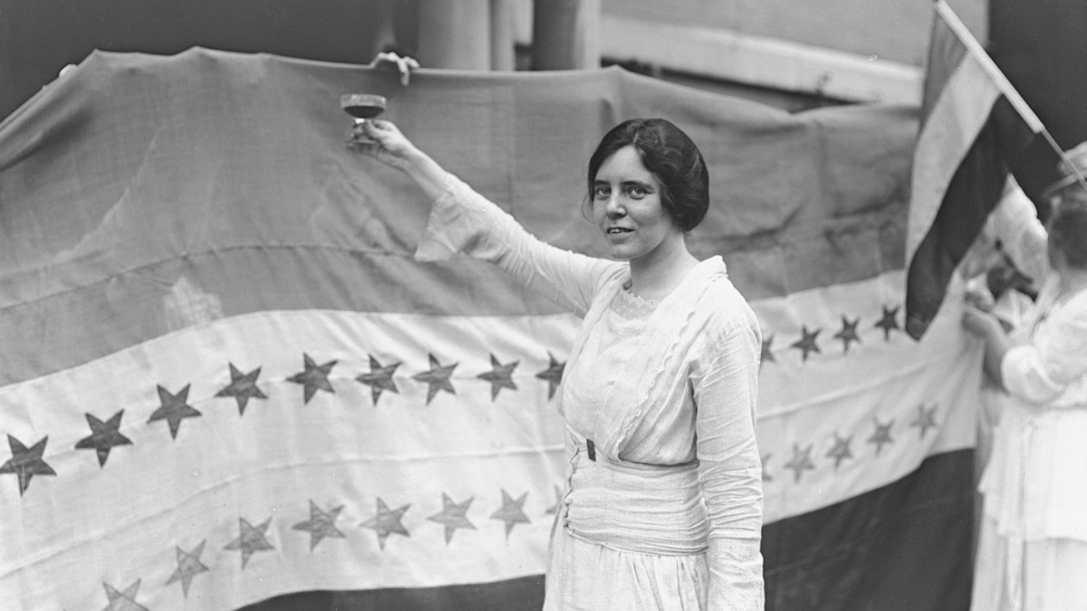Alice Paul makes a toast to Tennessee's ratification of the 19th Amendment to the U.S. Constitution, giving women the right to vote.