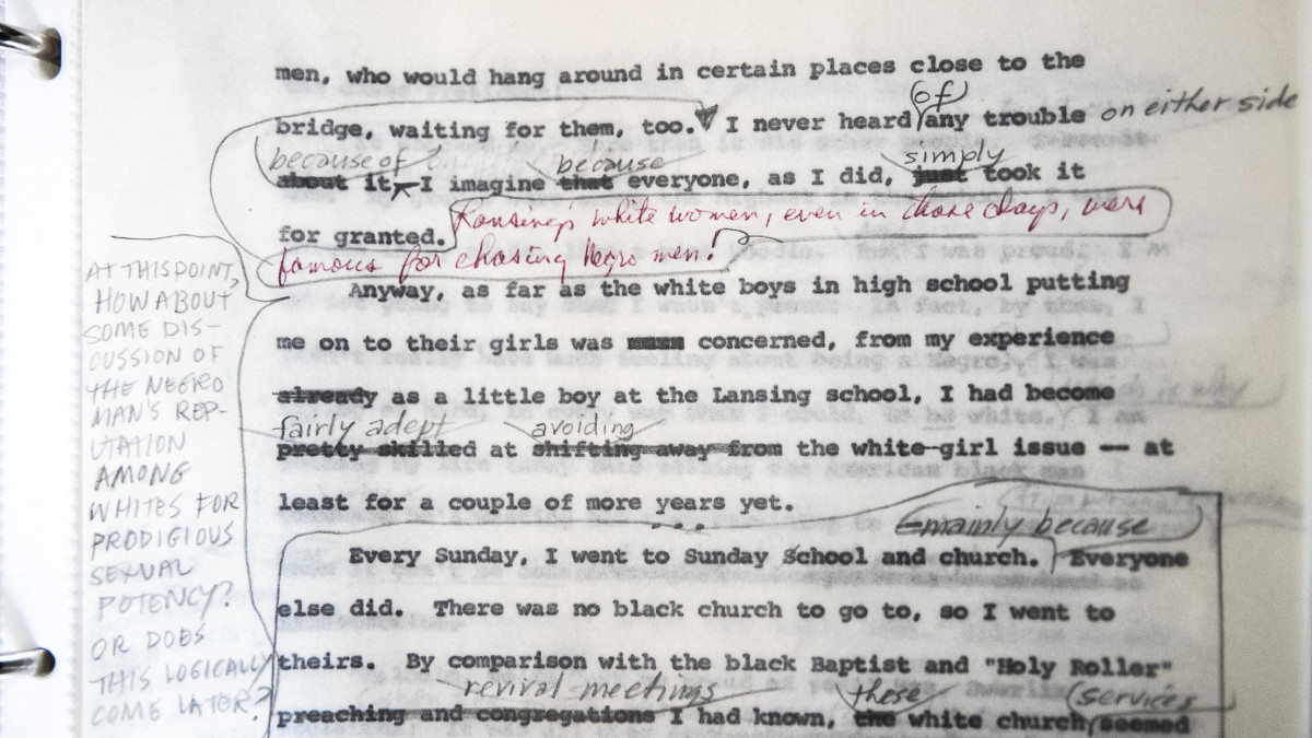 "The manuscript for the then-unpublished ""Autobiography of Malcolm X"" shows the push and pull of editing between Malcolm X and Alex Haley, his collaborator. It was sold at Guernsey's Auctions House in New York, July 25, 2018."