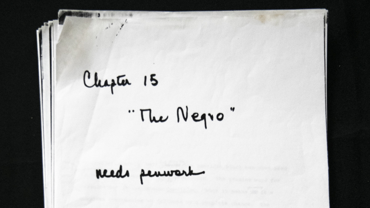 """Title page of the unpublished chapter from the """"Autobiography of Malcolm X."""""""